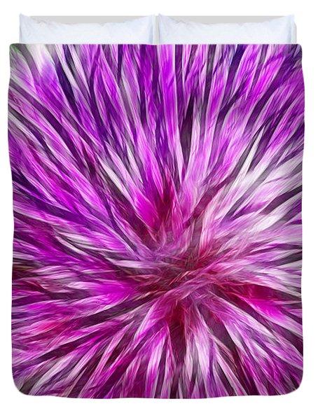 Purple Flower Fractal Duvet Cover