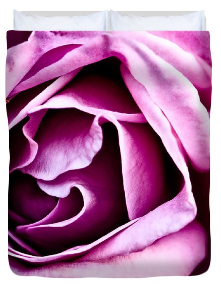 Purple Folds Duvet Cover by Christopher Holmes