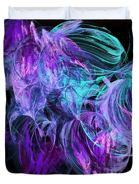 Purple Fusion Duvet Cover