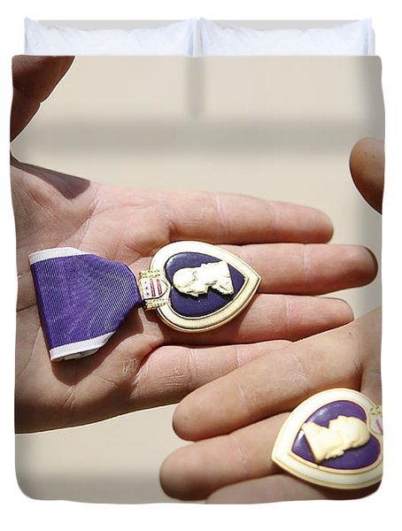 Purple Heart Recipients Display Duvet Cover by Stocktrek Images