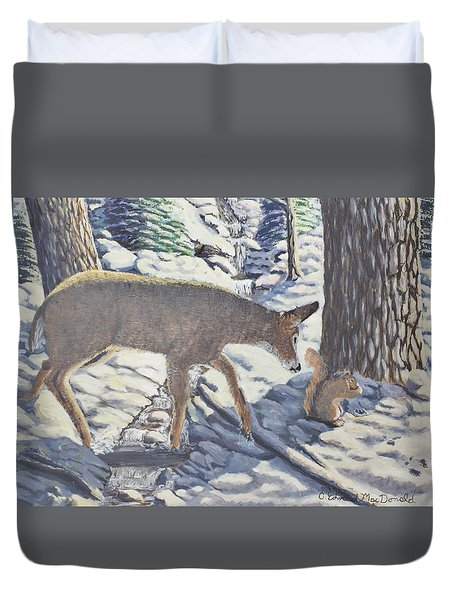 Purple In The Shadow Duvet Cover