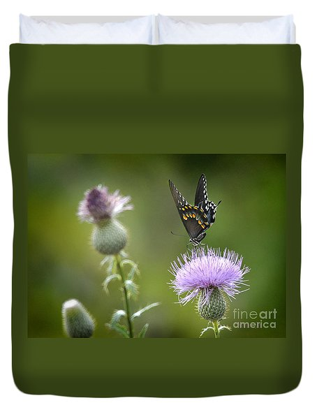 Duvet Cover featuring the photograph Purple Majesty by Nava Thompson
