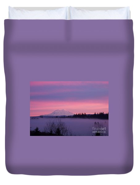 Duvet Cover featuring the photograph Purple Mountain Majesty by Chalet Roome-Rigdon