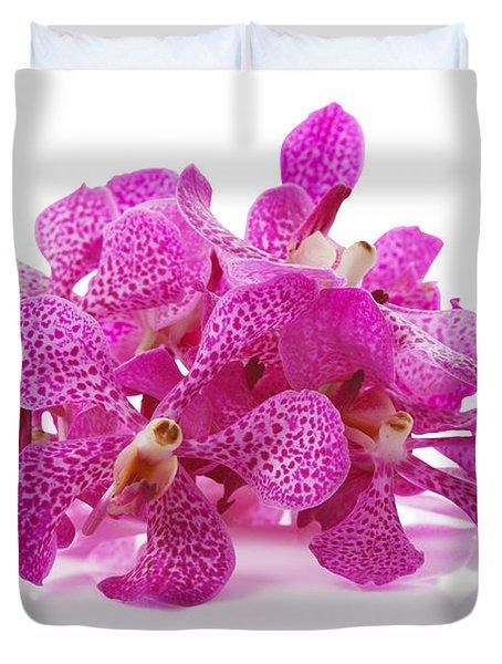 Purple Orchid Pile Duvet Cover