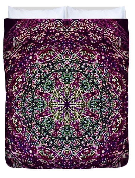 Purple Passion Mandala Duvet Cover