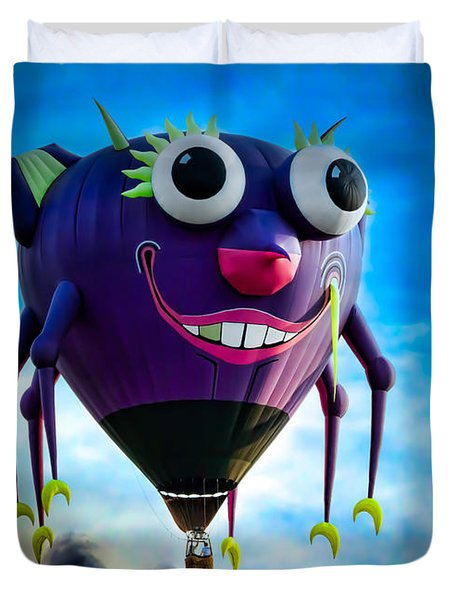 Purple People Eater Duvet Cover by Bob Orsillo