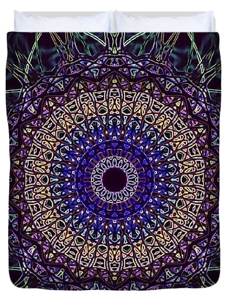 Purple Petal Mandala Duvet Cover