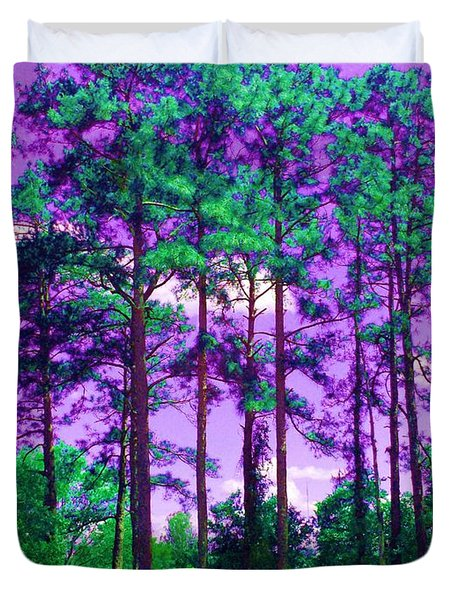 Duvet Cover featuring the photograph Purple Sky by George Pedro