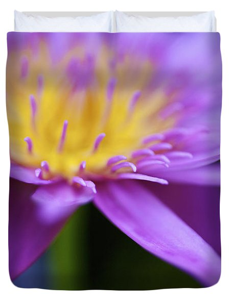 Purple Water Lily Petals Duvet Cover by Kicka Witte