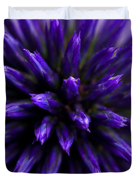 Duvet Cover featuring the photograph Purple Zoom by Trevor Chriss