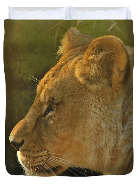 Pursuit Of Pride Duvet Cover by Laddie Halupa
