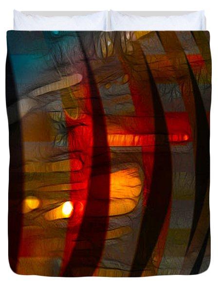 Pushing Paint  Duvet Cover by Stuart Turnbull