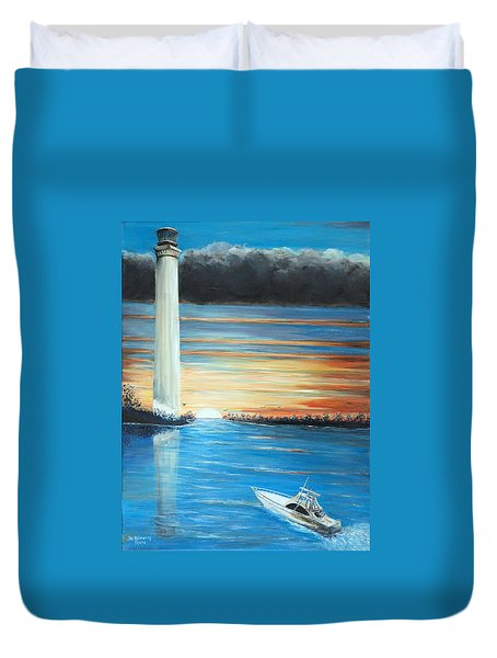 Put-in-bay Perry's Monument - International Peace Memorial  Duvet Cover by Bernadette Krupa
