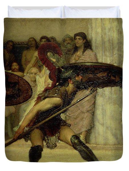 Pyrrhic Dance Duvet Cover by Sir Lawrence Alma-Tadema