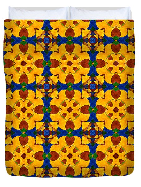 Quadrichrome 13 Symmetry Duvet Cover by Hakon Soreide