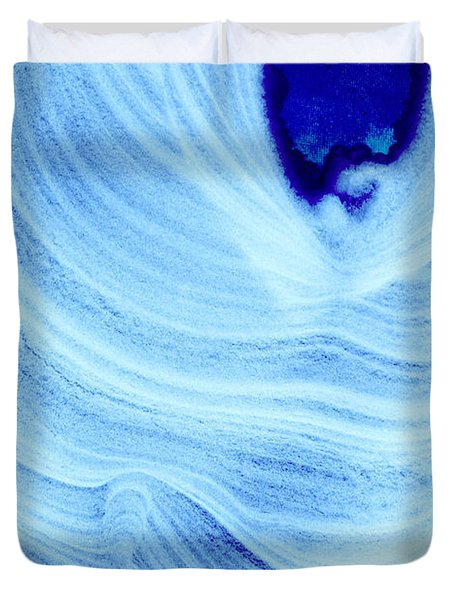 Query Blue Duvet Cover by Jamie Lynn