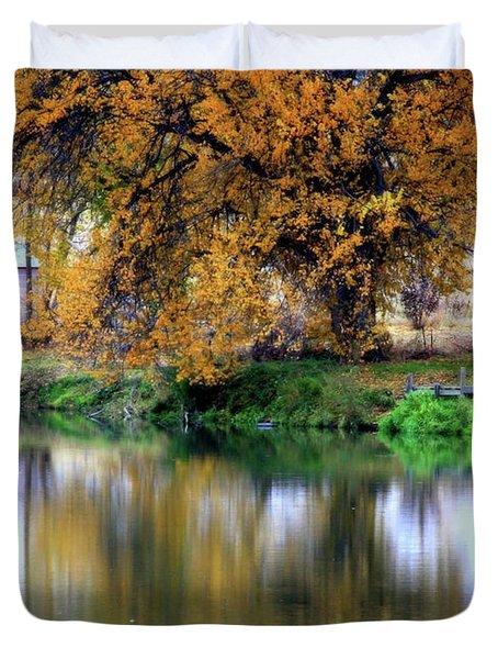 Quiet Autumn Day Duvet Cover by Carol Groenen