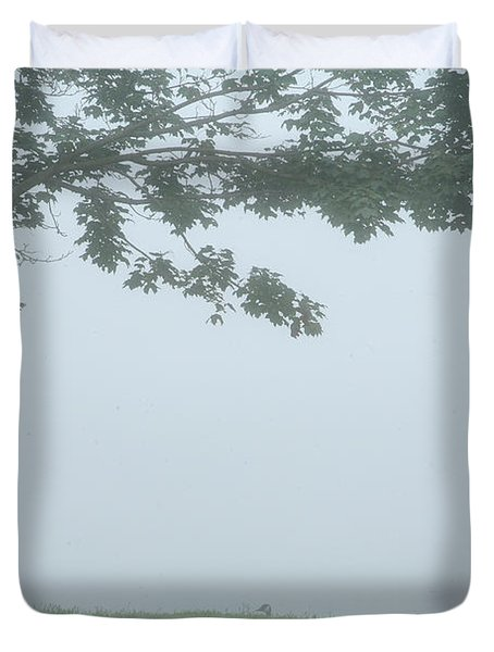 Quiet Fog Rolling In Duvet Cover by Karol Livote