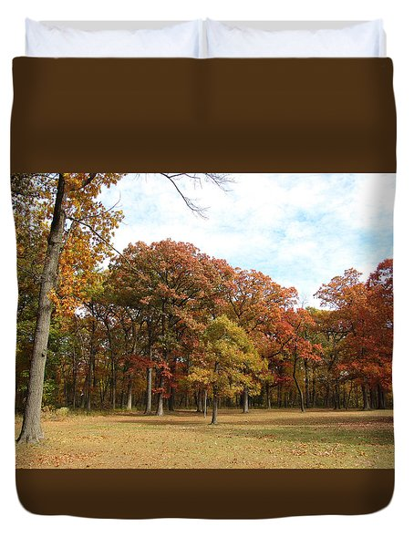 Quiet Forest 2 Duvet Cover by Cedric Hampton