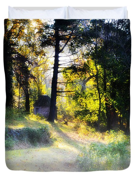 Quiet Morning In The Woods Duvet Cover by Bill Cannon