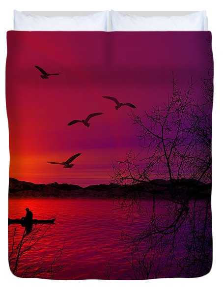 Quietude Duvet Cover by Lourry Legarde