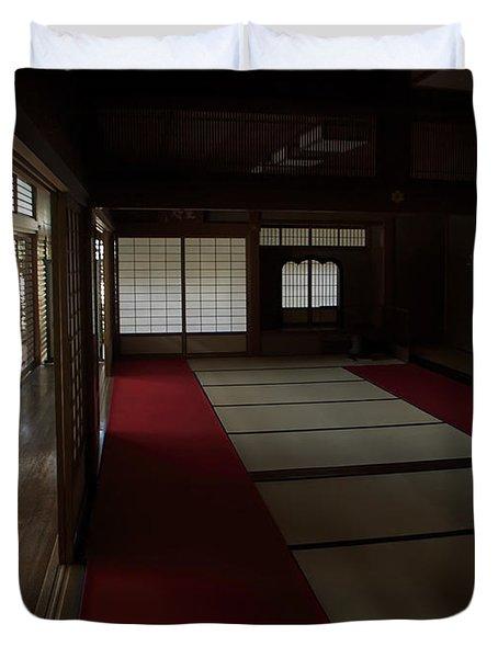 Quietude Of Zen Meditation Room - Kyoto Japan Duvet Cover