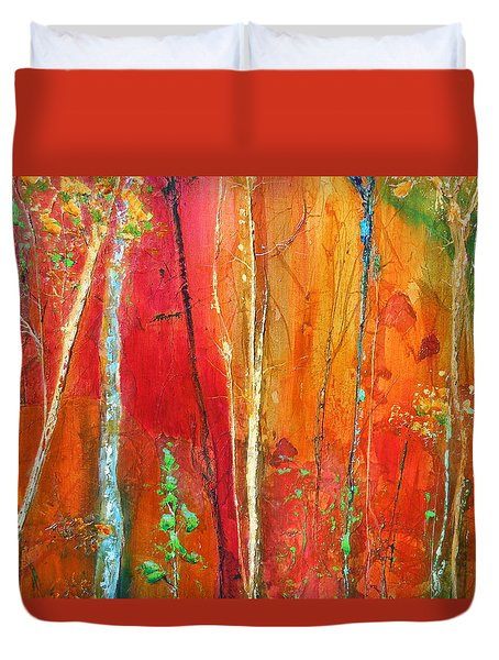 Quinacridone Hollow  Duvet Cover