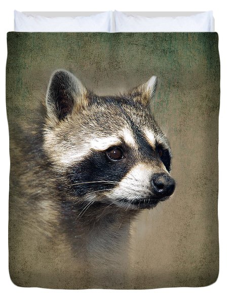 Raccoon 1 Duvet Cover by Betty LaRue