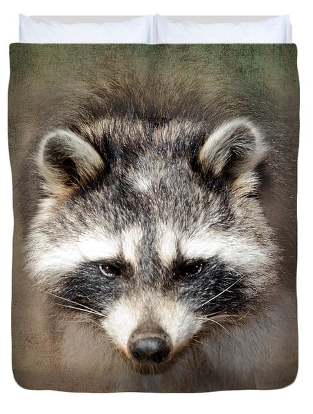 Raccoon 2 Duvet Cover by Betty LaRue