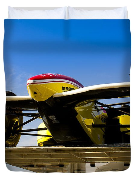 Racing Car Nose Duvet Cover by Darcy Michaelchuk