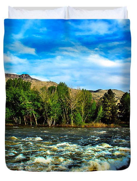 Raging River Duvet Cover by Robert Bales