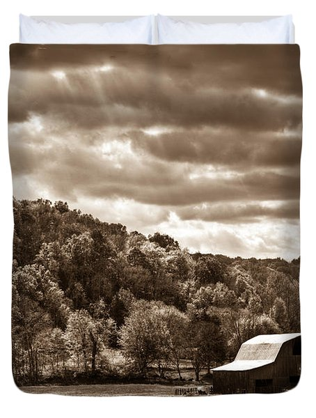Raging Skies Duvet Cover by Douglas Barnett