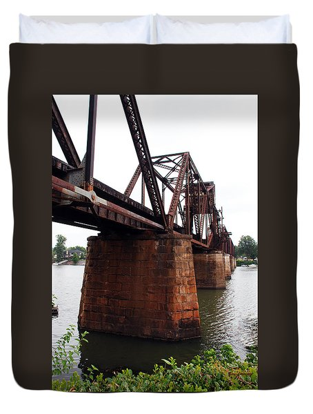 Duvet Cover featuring the photograph Railroad Bridge 1 by Kay Lovingood
