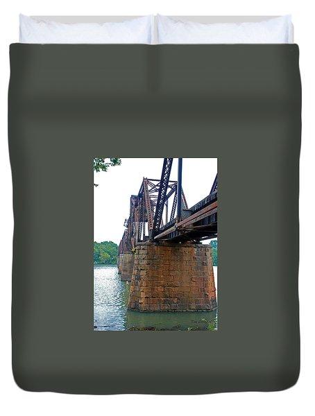 Duvet Cover featuring the photograph Railroad Bridge 2 by Kay Lovingood