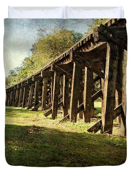 Railroad Bridge Duvet Cover by Tamyra Ayles