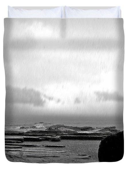 Rain And Storm Duvet Cover