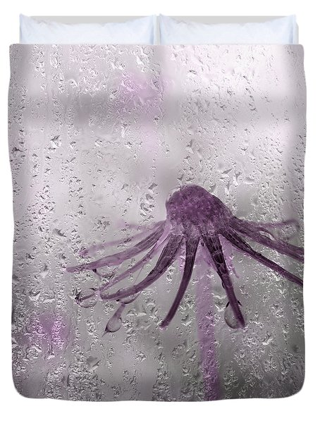 Rain On Me - Pink Duvet Cover by Aimelle