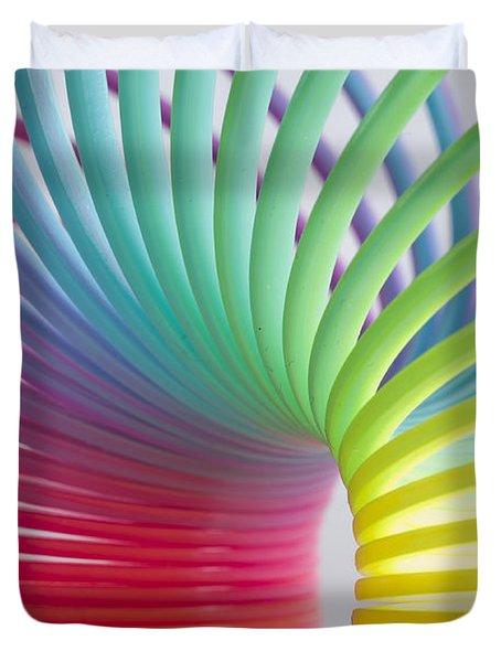 Rainbow 5 Duvet Cover by Steve Purnell