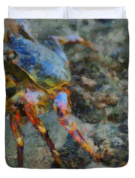 Rainbow Crab Duvet Cover