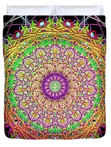 Rainbow Mandala Duvet Cover