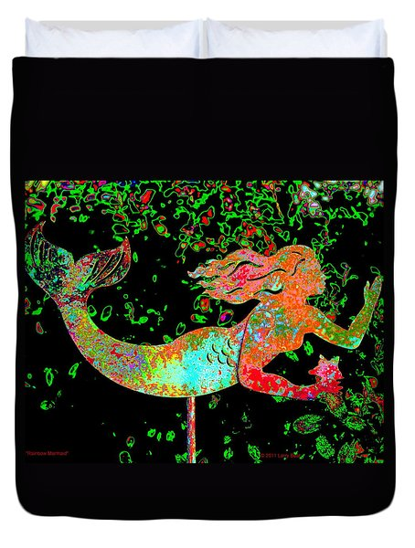 Rainbow Mermaid Duvet Cover