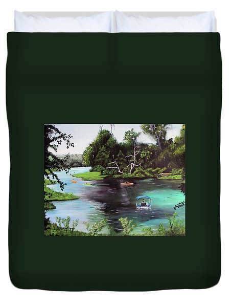 Rainbow Springs In Florida Duvet Cover by Luis F Rodriguez