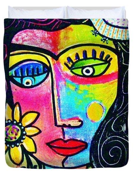 Rainbow Sunshine Frida Duvet Cover