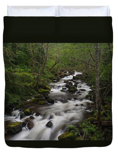Rainier Forest Flow Duvet Cover by Mike Reid