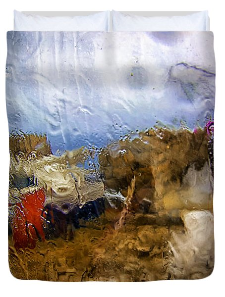 Rainy Day Abstract 3 Duvet Cover by Madeline Ellis