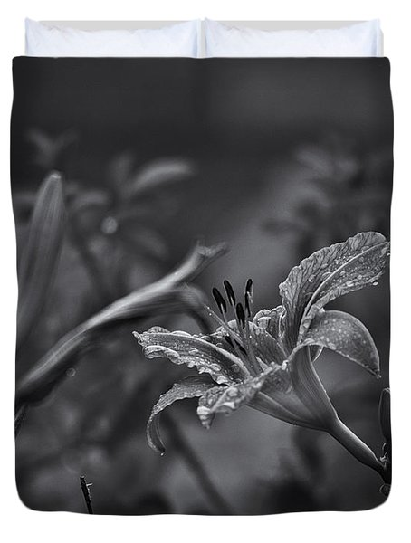 Rainy Day Lily Duvet Cover