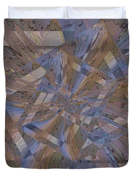 Rainy Day Portal 3 Duvet Cover by Tim Allen