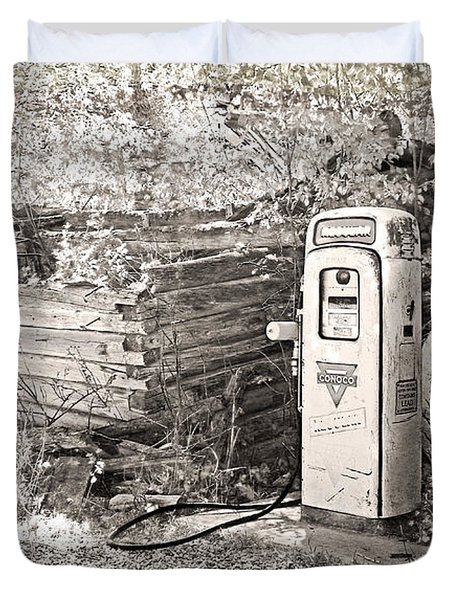 Ranch Gas Pumps Duvet Cover by Lenore Senior and Dawn Senior-Trask