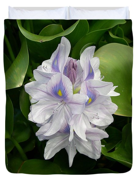 Duvet Cover featuring the digital art Rare Hawain Water Lilly by Claude McCoy