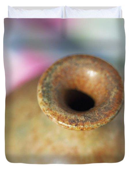 Rare John Regis Tuska Pottery Vase Duvet Cover by Kathy Clark
